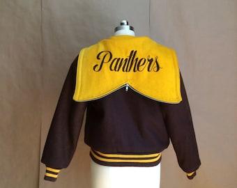 vintage 70's 80's varsity letter jacket  / bomber jacket / coat jacket / outerwear / letterman jacket