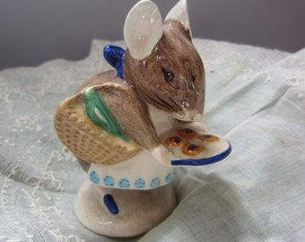 Appley Dapply Beatrix Potter Ceramic Vintage Beswick Figurine
