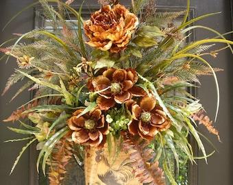 Wall Pocket, Wreaths, Wall Floral Arrangement, Wall Arrangement, Flower Arrangement For Wall, Rooster Decor, Floral Wall Decor