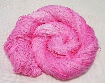 hand dyed thread 150 yards  1 ball  color pink charm cotton crochet  size 10  crocheting, embroidery, knitting, tatting supplies