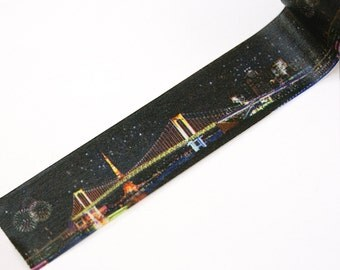 MASTE Tokyo tower and rainbow brige at night masking tape - japanese washi tape