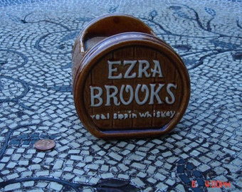 Antique Ceramic Ezra Brooks Whiskey Barware Collectible - Very Rare