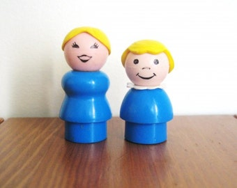 Vintage Fisher Price Matching Mother and Daughter