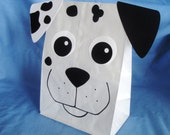 Dalmatian Treat Sacks - Dog Firehouse Fire Marshall Firefighter Pet Theme Birthday Party Favor Bags by jettabees on Etsy