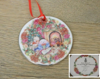 "Royal Doulton Christmas Ornament - ""The Night Before Christmas"" - Artist Signed Jane James - 1996"