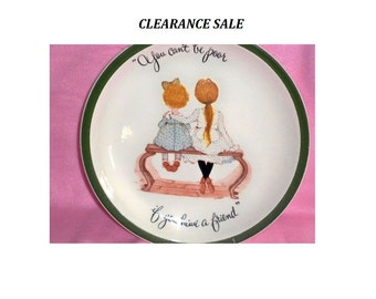 CLEARANCE SALE - Holly Hobbie - Vintage Collector's Plate - 1972