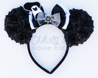 Inspired Steamboat Willie Rose Mouse Ears