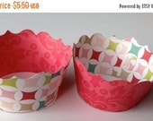CLOSEOUT SALE Multi colored diamond Cupcake wrappers SET of 12