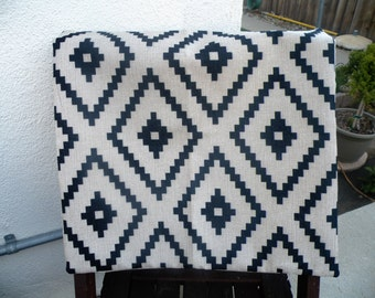 50% off this item, enter LOVE99 at checkout, Pillow Cover, Accent Pillow, Pillow Cover, Decorative Pillow Cover, Nautical Black Patterned