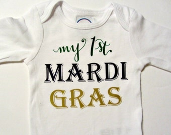 New Orleans Baby Gift New Orleans Infant Romper Mardi Gras Shirt New Orleans Saints Baby Louisiana Baby New Orleans Shirt Nola Shirts
