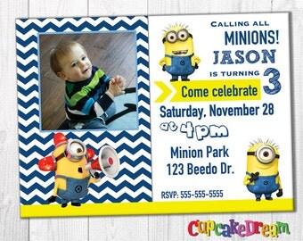 Minion Invitation, Despicable Me Birthday