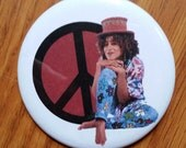 Freddie Brooks A Different World pin badge pinback button hand pressed 2-1/4 inch pin Cree Summer peace man 90s retro grunge fashion