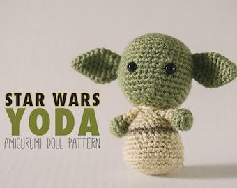 Yoda Amigurumi Doll inspired by Star Wars // Star Wars Crochet Pattern // Instant Download