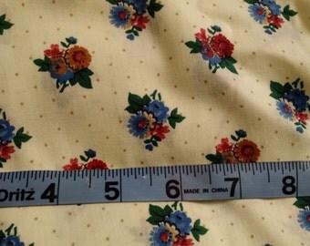 Fabric Destash - Cotton Flower Patterned
