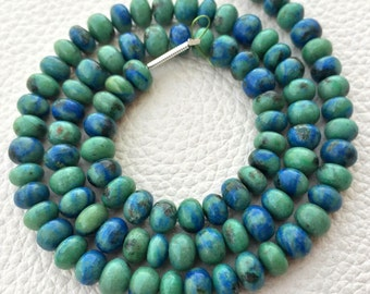 AAA Quality Brand New, 8 Inch Strand, AZURITE MALACHITE Smooth Rondelles,5-6mm size,Superb Polished Smooth
