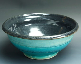 Handcrafted pottery salad bowl or fruit serving bowl 3436
