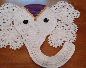 Crochet White Elephant Table Runner