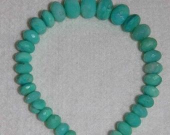 Opal, Peruvian Opal, Blue Peruvian Opal, Faceted Rondelle, Graduated Rondelle, Natural Stone, Semi Precious, Strand, 8-12mm, AdrianasBeads