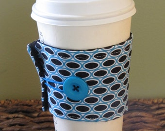 Blue Dots Sleeve Cup Cozy