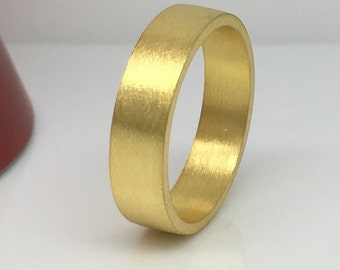 Men's wedding band, sunburst yellow gold plated wedding ring, 6mm wide gold wedding band, men's wedding ring, sterling silver band