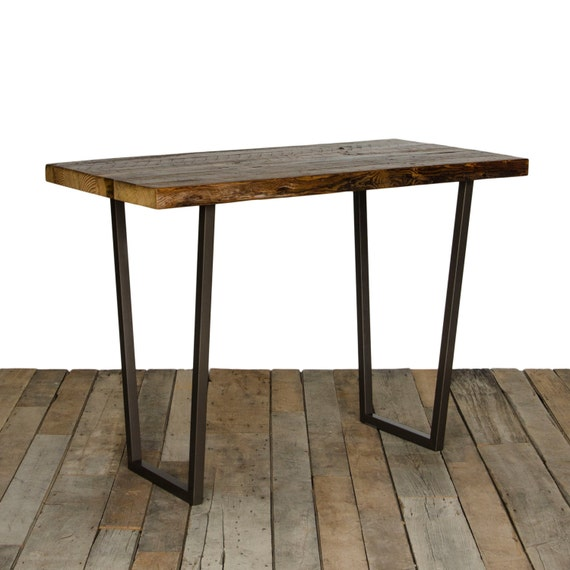 Bar Or Pub Table With 165 Reclaimed Wood Top And