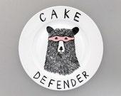 The Cake Defender Bear side plate