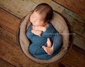 Newborn Wrap, Stretchy Wrap, Newborn Wrap, Soft Blue Cocoon Wrap, Stretchy Knit Wrap, Baby Boy Photo Prop, NEwborn Props, RTS