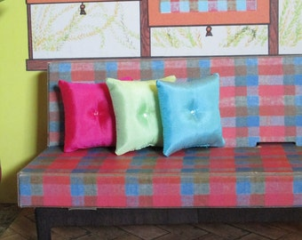 SILK PILLOWS for vintage Barbie Dream House