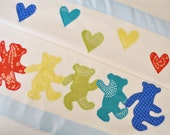 Grateful Dead Dancing Bears Baby Boy Blanket with Rainbow Colors -- Free Personalization