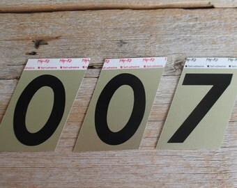 New Old Stock Aluminum Numbers // House Numbers // Self Adhesive Numbers // 0, 7 or 8