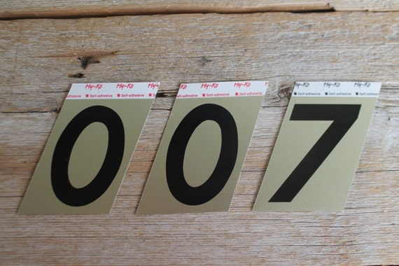 New old stock aluminum numbers house numbers self for Classic house numbers