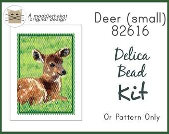 Deer 82616 Small Panel Peyote Seed Bead Pattern PDF or KIT DIY Wildlife Animal