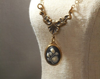 Lady Violet Cameo Necklace - Downton Abbey Jewelry - Victorian Jewelry - Gift for Her - Reproduction Jewelry - Womens Jewelry