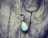 20% off any order,Ocean love-Sterling Silver Larimar Necklace. Pastel blue, Ready to Ship