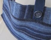 Blue Striped Upcycled Sweater Purse/Handbag
