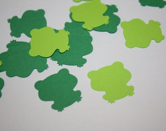 Green Frog Die Cut Confetti - 200 pieces