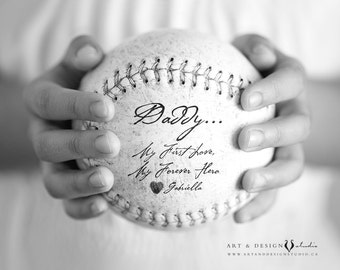 Custom Gift for Dad, Personalized Father Gift from Daughter, Child, Father's Day Gift, Sports Art Print, Personalised Gift, Dad Hero Print