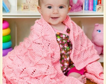 Knitting Pattern Baby Blanket Instant Download Knitting Pattern  Knitted Baby Blanket