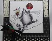Handmade Card, Greetings, Gift, Birthday, Kitten, Penny Black - Cupcake Treat Kitty