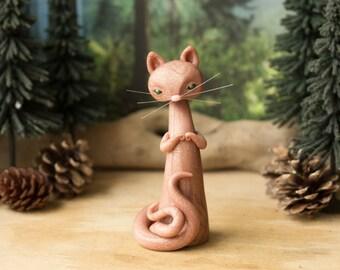 Nekomata - Forked Tail Cat Spirit in Golden Rose by Bonjour Poupette