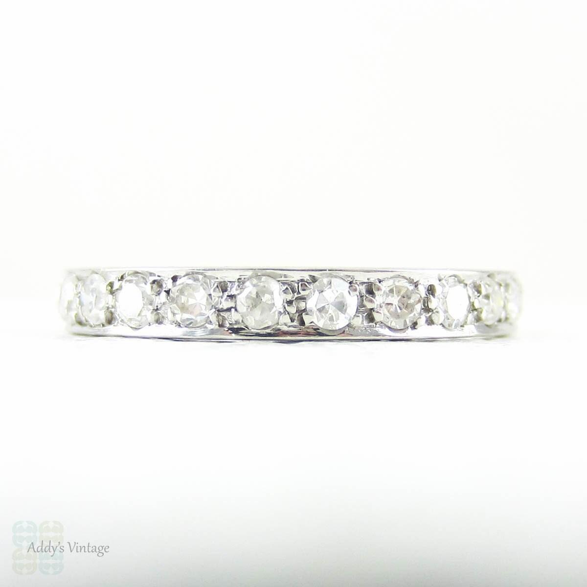 Antique Platinum Amp Diamond Eternity Ring Full Hoop Pave Set