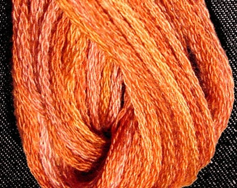 Valdani, 6 Strand Cotton Floss, P6, Rusted Orange