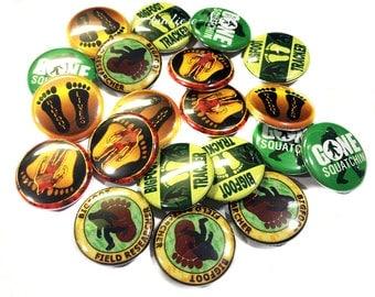 "Big Foot, 1"" Buttons, Big Foot Buttons, Big Foot Pins, Big Foot Parties, Sasquatch Party Favors, Bigfoot Flatback, Squatch Button, Squatchin"