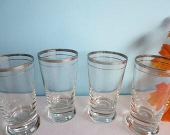 Vintage Silver Band Glasses