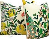 Schumacher Pillow Cover - 20X20 - Citrus Garden - TWO - Josef Frank - throw pillow - toss pillow - floral pillow - linen - made to order