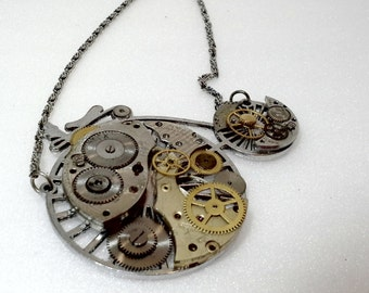 The Penny Farthing - Steampunk Bicycle Watch Movement Costume Necklace