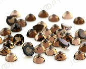 Smoky Quartz  Rose Cut Cabochon 5mm Round - 1 cab