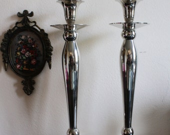 Medium Silver Candle Stick Holders