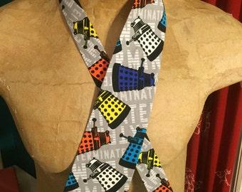 Multicolored Dalek Tie - Exterminate!
