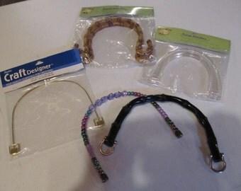 Purse Handles Assortment of 5 for DIY